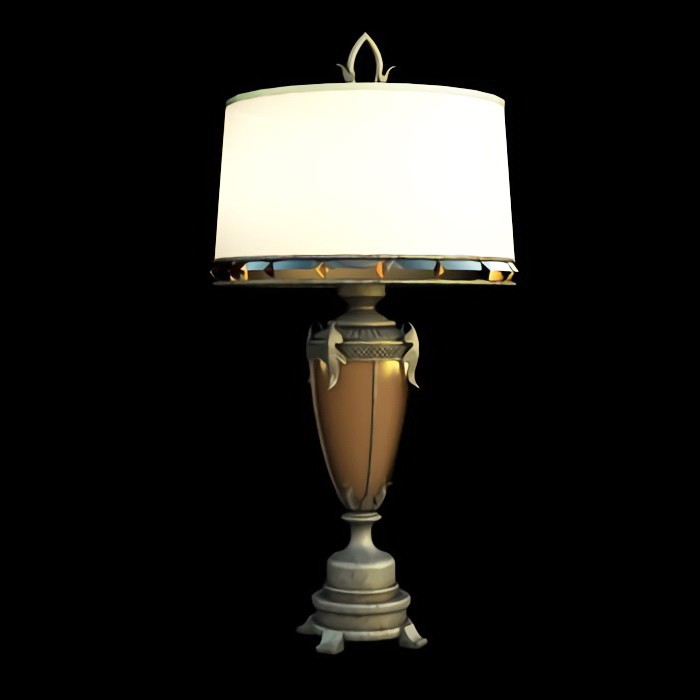 Retro Home Table Lamp 3d rendering