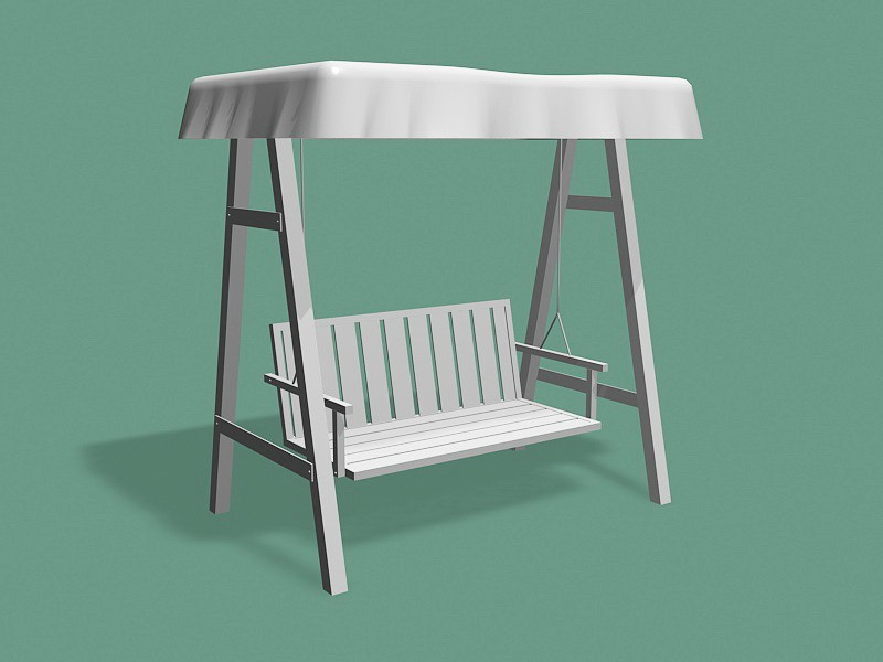 Outdoor Swing with Canopy 3d rendering