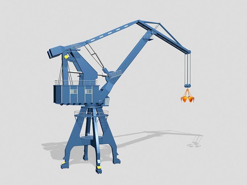 Stationary Crane 3d rendering