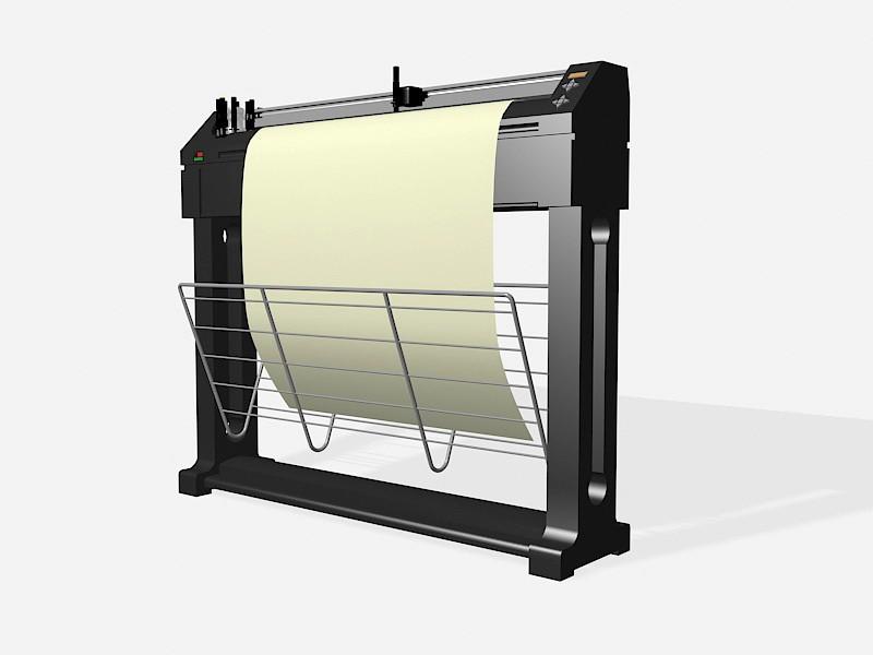 Plotter Printer 3d rendering