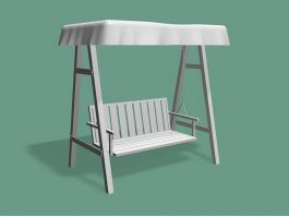 Outdoor Swing with Canopy 3d preview
