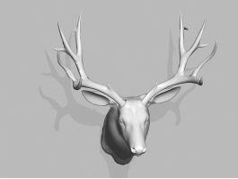 Mule Deer Head Wall Mount 3d preview