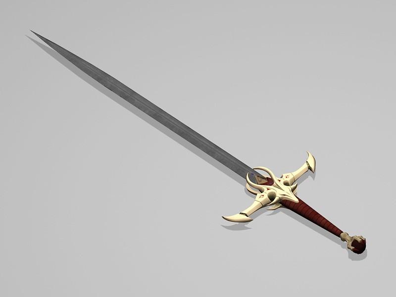 Excalibur Sword 3d rendering