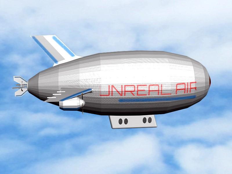 Flying Airship 3d rendering