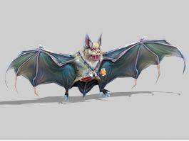 Evil Bat Monster Low Poly 3d preview