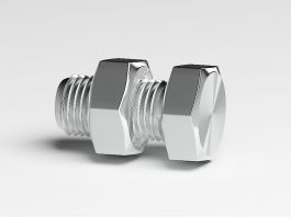 Bolt with Nut 3d preview