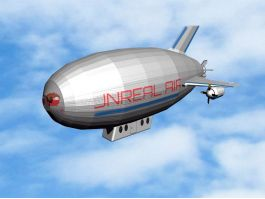 Flying Airship 3d preview