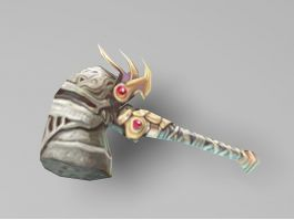 Anime Hammer Weapon Low Poly 3d preview