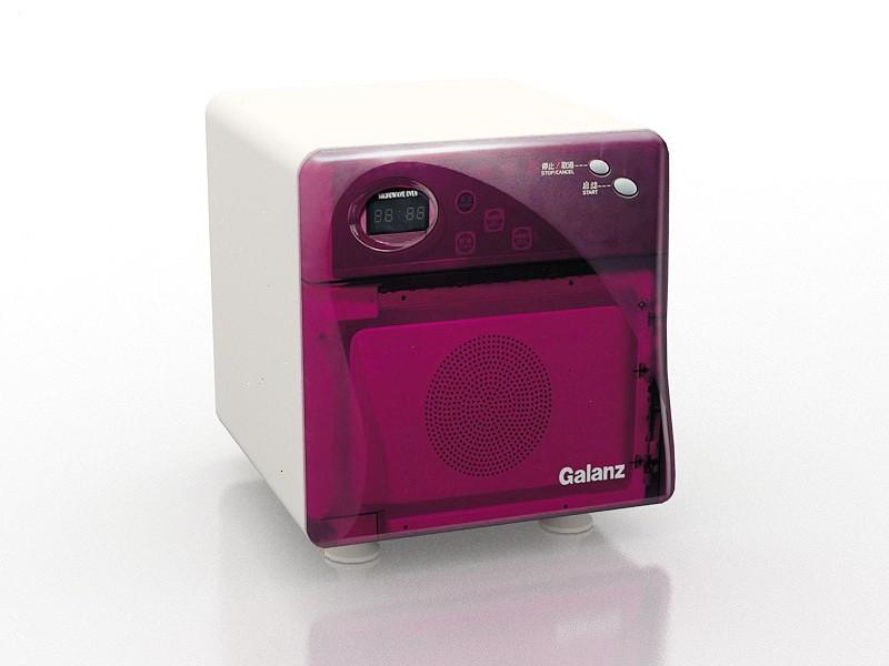Mini Microwave 3d rendering