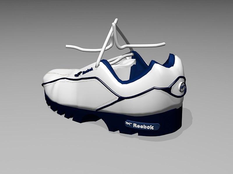 Reebok Classic Sneakers 3d rendering