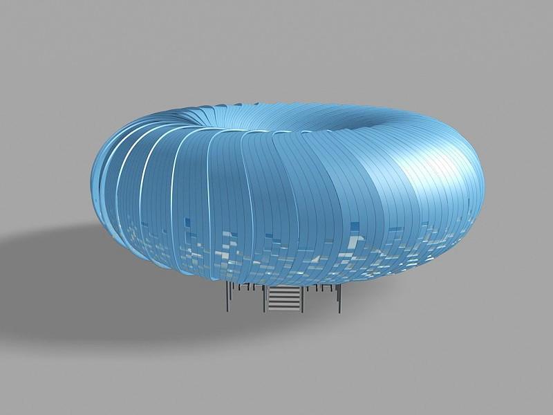 Cool Soccer Stadium 3d rendering