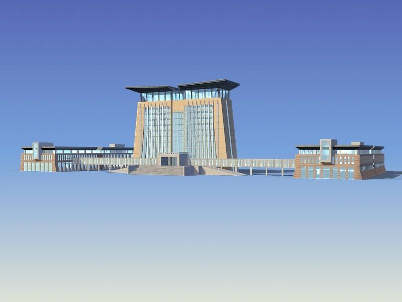 Customs Office Building 3d rendering