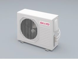 Sanyo Outdoor Air Conditioner 3d preview