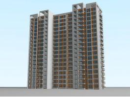 High-rise Apartment Buildings 3d preview