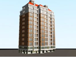 Tall Apartment Building 3d preview