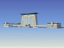 Customs Office Building 3d preview