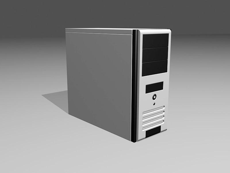 Desktop PC Case 3d rendering