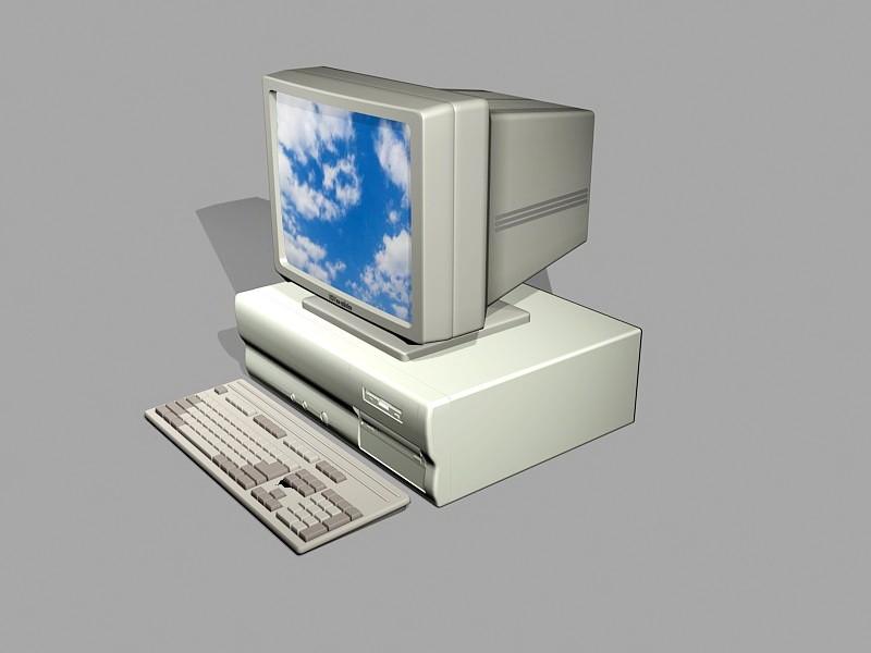 Old Windows Computer 3d rendering