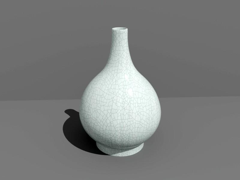 Ice Crack Porcelain Vase 3d rendering