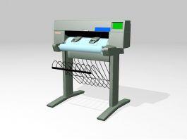 Old Plotter Printer 3d preview