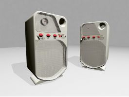 Small Computer Speakers 3d preview