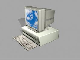Old Windows Computer 3d preview
