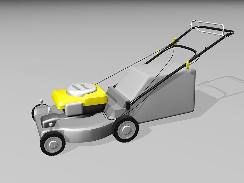 Push Lawn Mower 3d rendering