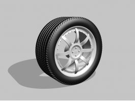 Wheel And Tire Assembly 3d preview