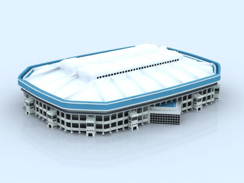 Covered Stadium 3d rendering