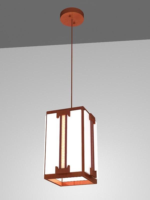 Oriental Pendant Light 3d rendering
