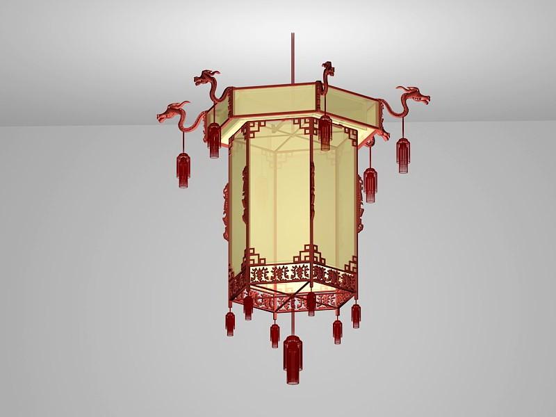 Chinese Palace Lantern 3d rendering