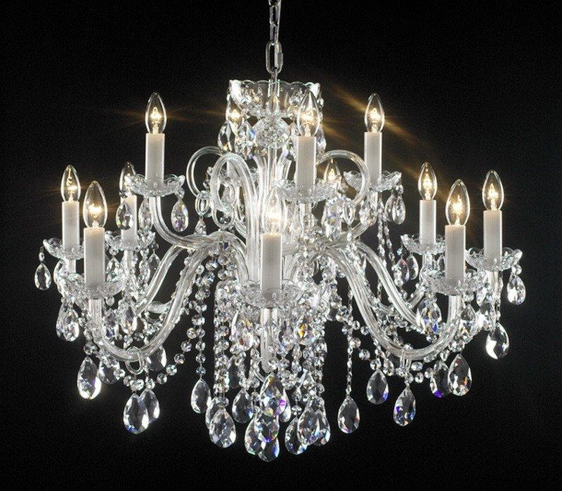Crystal Candle Chandelier 3d rendering