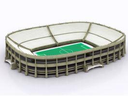 Football Field Stadium 3d model preview