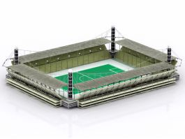 College Soccer Stadium 3d preview