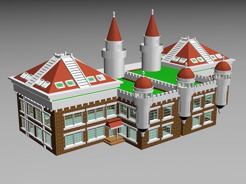 Victorian House Exterior 3d rendering