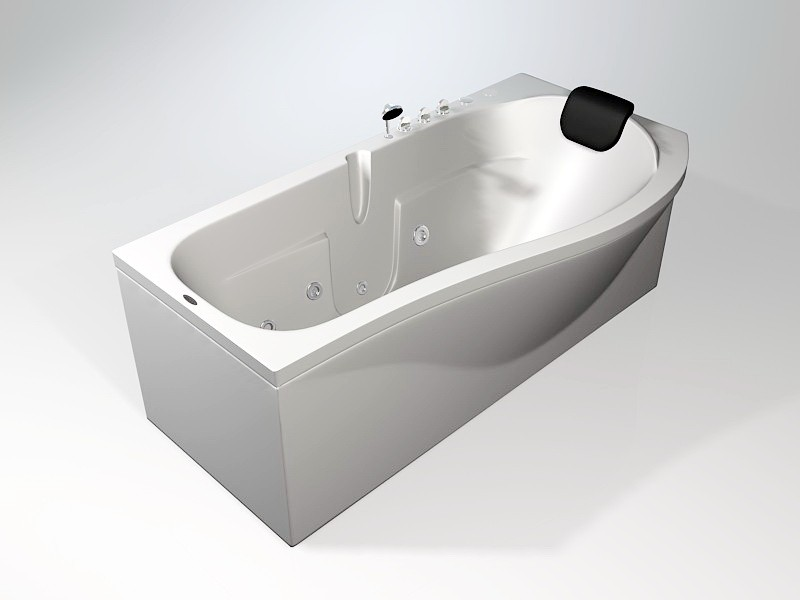 Whirlpool Jetted Tub 3d rendering