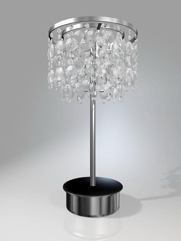 Table Top Crystal Chandelier 3d rendering
