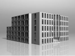 University Library Building 3d model preview