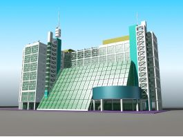 Modern Urban Hotel Architecture 3d preview