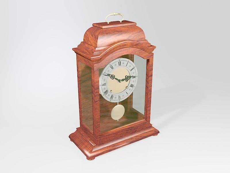 Antique Mantel Pendulum Clock 3d rendering