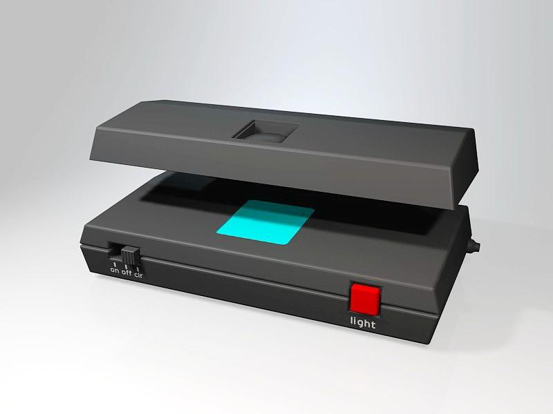 Money Detector Machine 3d rendering