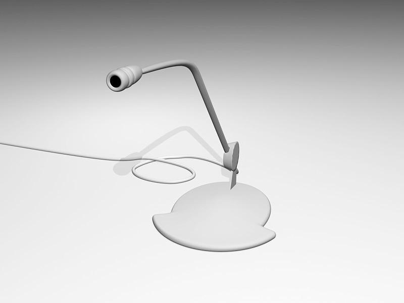 Desk Microphone 3d rendering