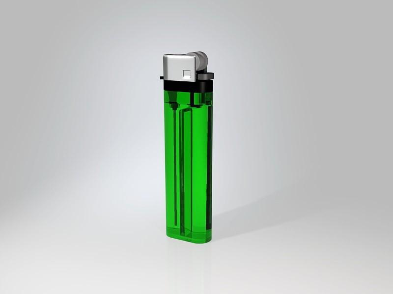 Disposable Plastic Lighter 3d rendering