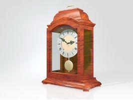 Antique Mantel Pendulum Clock 3d preview