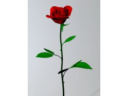 Red Rose Flower 3d preview