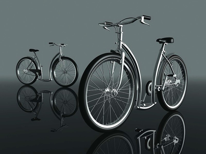 Womens Cruiser City Bike 3d rendering