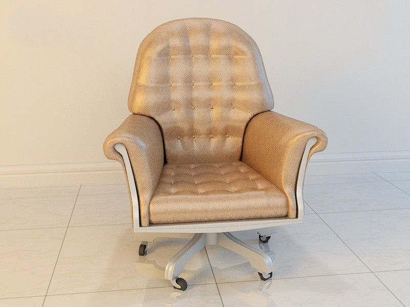 Modern Leather Swivel Chair 3d rendering