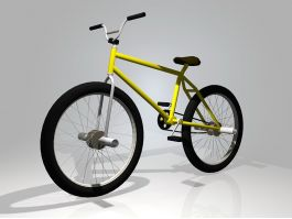 Yellow BMX Bike 3d preview