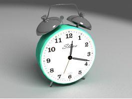 Green Alarm Clock 3d preview