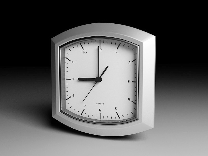 Small Desk Clock 3d rendering
